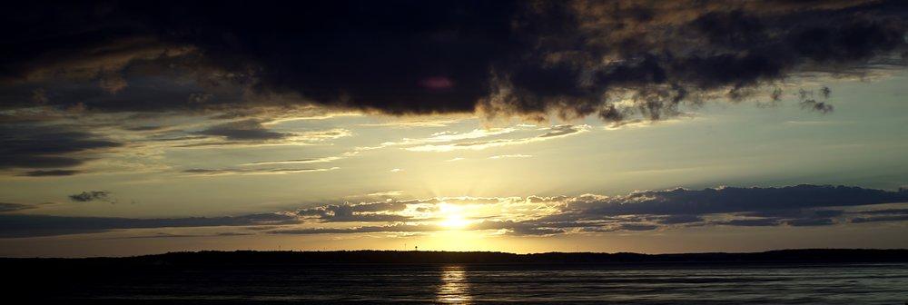 Lomo 100mm anamorphic lens | Sunset over St.Ignace, Upper-Penninsula, MI. Photo by: Keith Nickoson