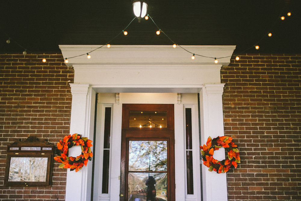 holly hill inn midway wedding wreaths