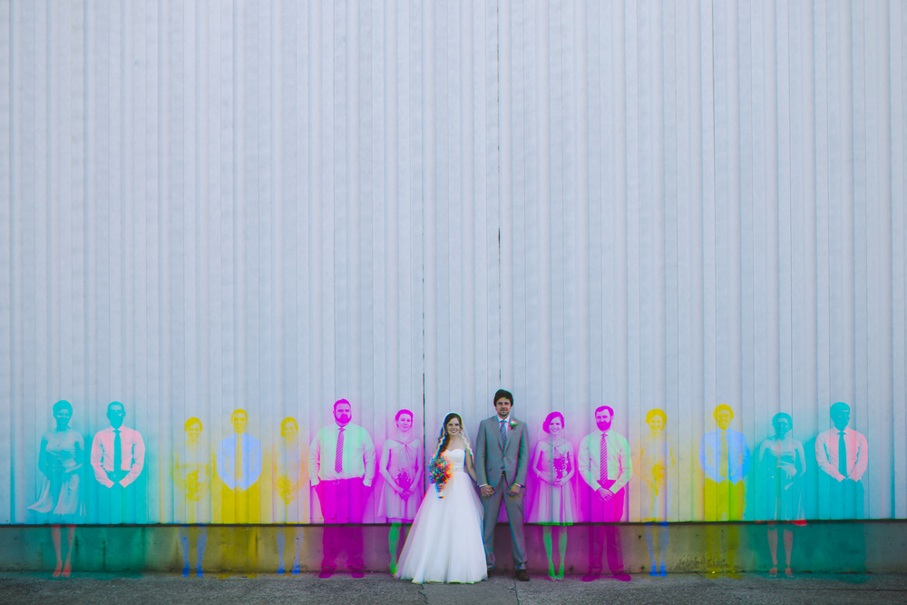 cool unique bridal party wedding photography in louisville kentucky