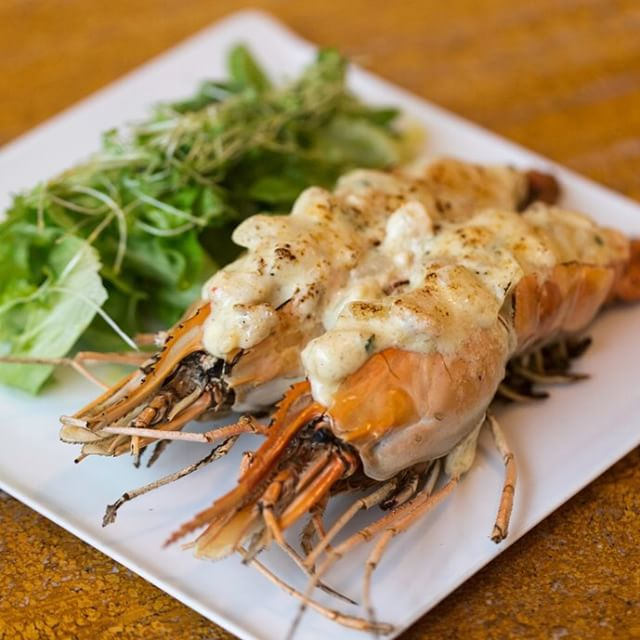 Lusso's River Prawn Thermidore served with a healthy side salad. It must be time for #LunchAtLusso #LussoManila