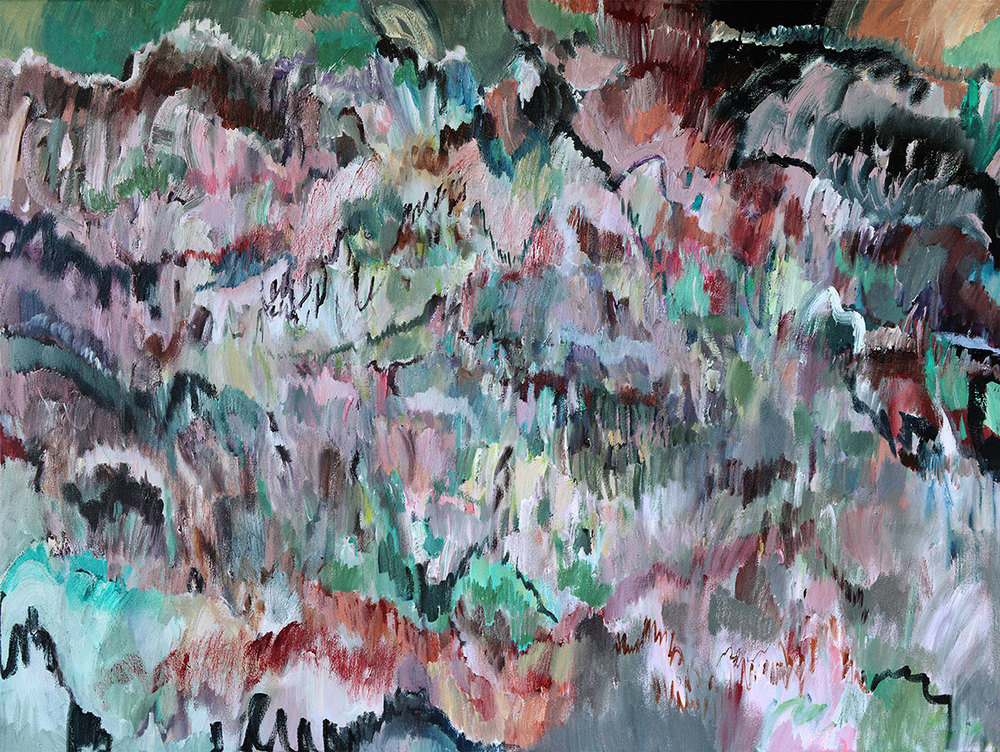 Internal Reflection 120cm x 90cm   SOLD  This painting is about looking inward and traversing the internal landscape that speaks to you.