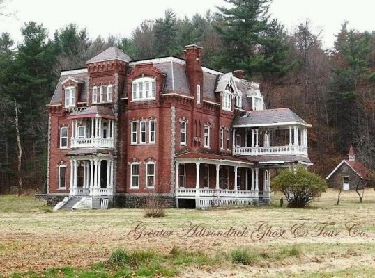 The Graves Mansion sits in an historic area in the northern Adirondack Park