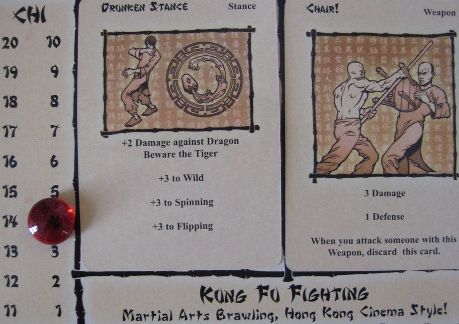 Kung Fu Fighting player board ( Ryan Maeson )