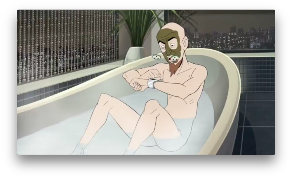 Once again, Dr. Venture is interrupted in one of his brief moments of respite from the chaos he largely helps create. This time, it's in a fancy high-rise bathroom.