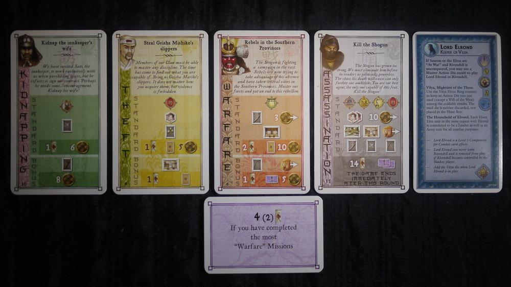A glimpse at  Yedo 's Mission Cards. ( Marcin Mościki )