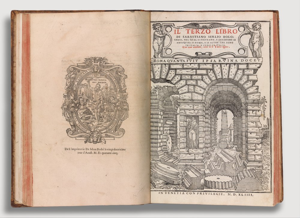 Compendium of Architectural Books by Sebastiano Serlio (Books I-V)