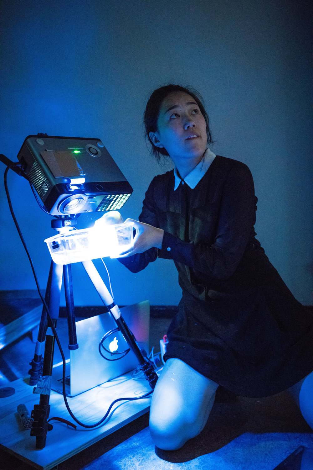 Performance art group Electric Kagura in Berlin, Germany