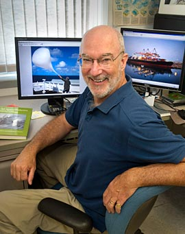 Ernie Lewis, atmospheric scientist at Brookhaven, has lead the way for projects with ARM and MAGIC to understand aerosols.