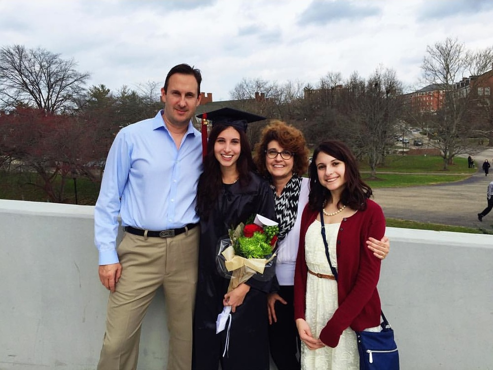 My lovely family on my graduation day. I owe all of my success to their support and guidance to follow my dreams.