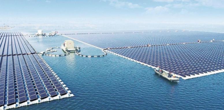 A 40-megawatt floating solar farm in China's coal-rich Anhui provinceSungrow Power Supply Co., Ltd.