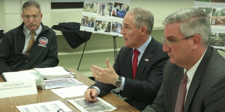 EPA Administrator Scott Pruitt visited the USS Lead Superfund in East Chicago, Indiana.U.S. Environmental Protection Agency / YouTube