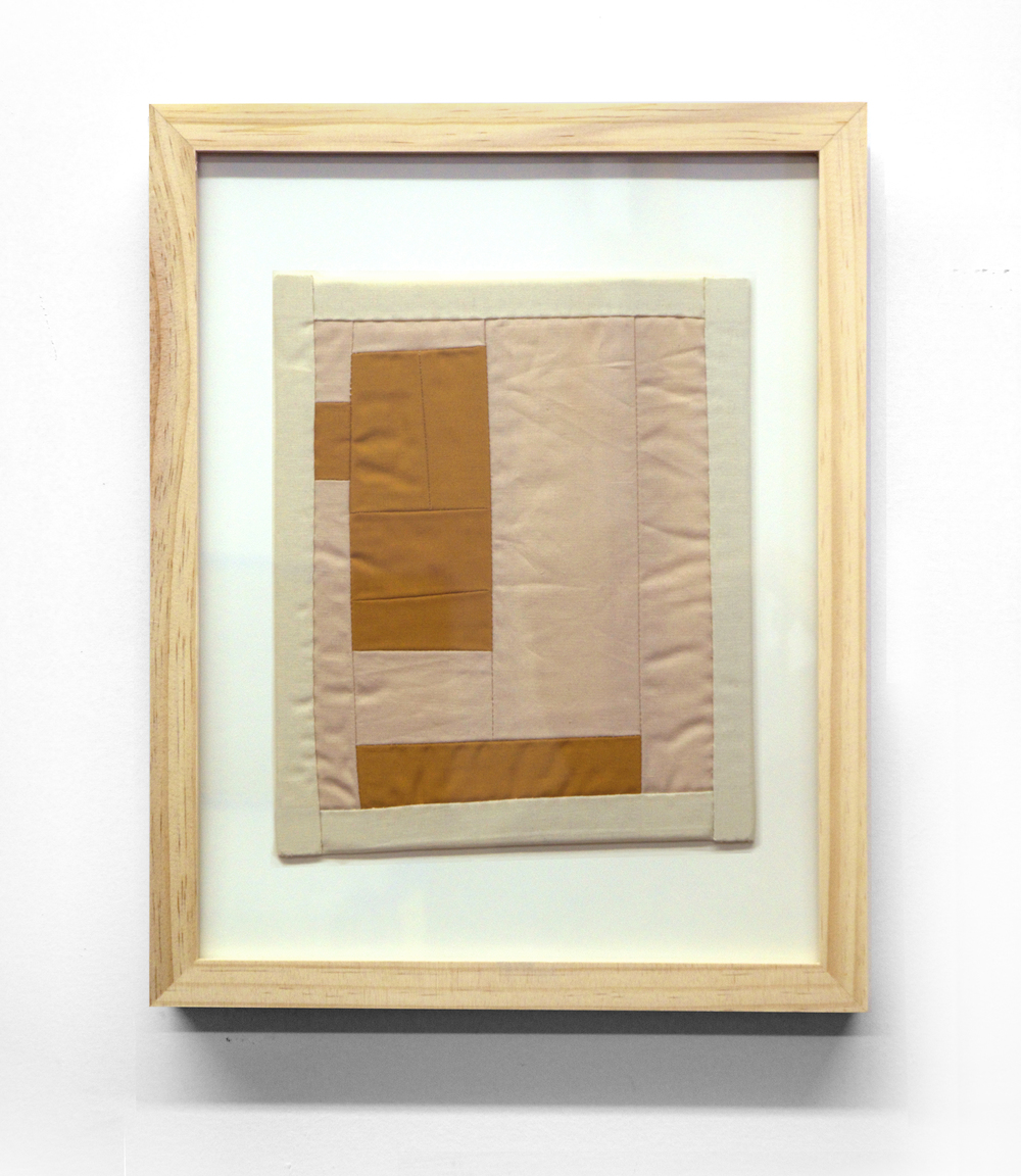MINI (BURNT UMBER)   cotton quilt and frame   11 x 14 inches,   2014