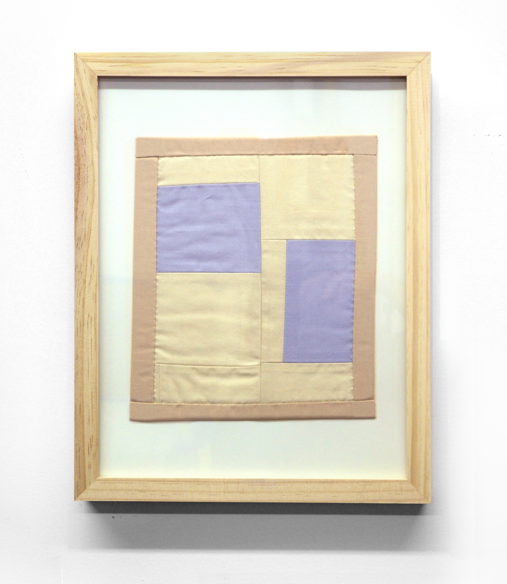 MINI (BLUE)   cotton quilt and frame   11 x 14 inches,   2014