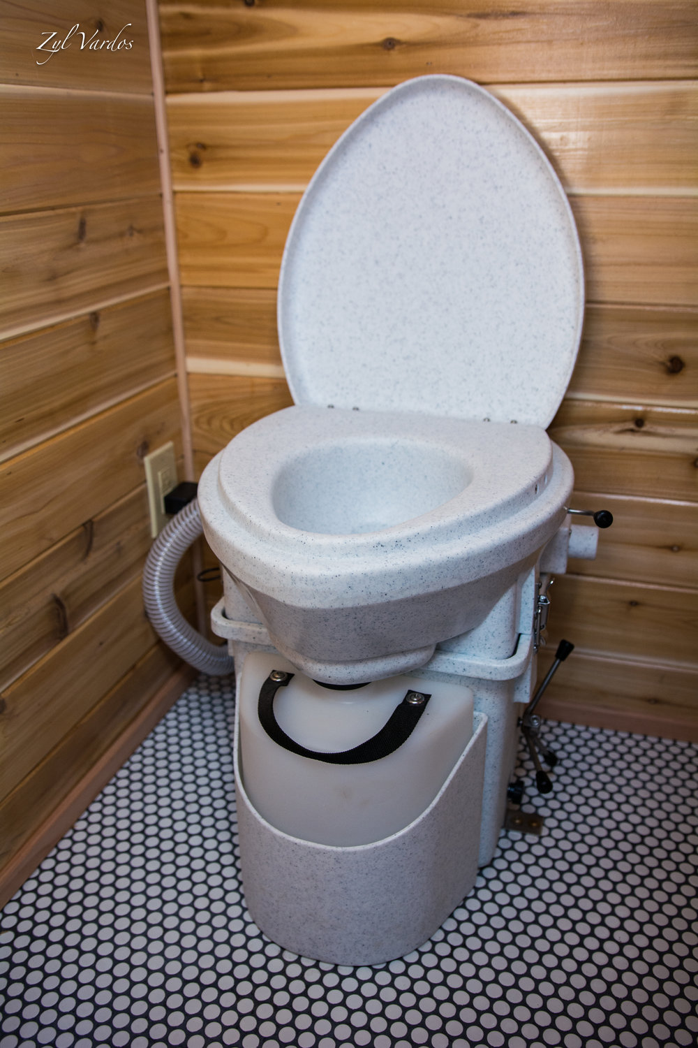 A Nature's Head Composting Toilet