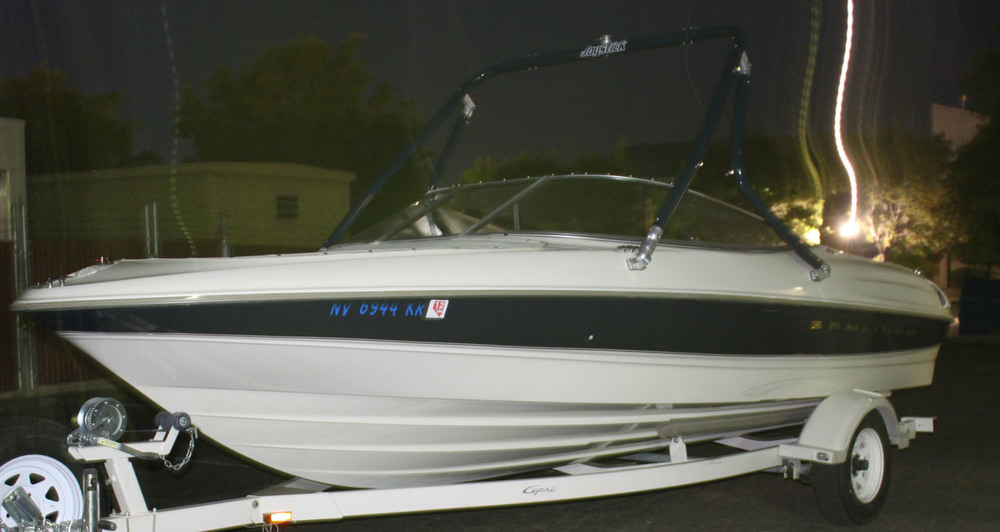 Wakeboard Tower on a 1999 Bayliner 2050 capri