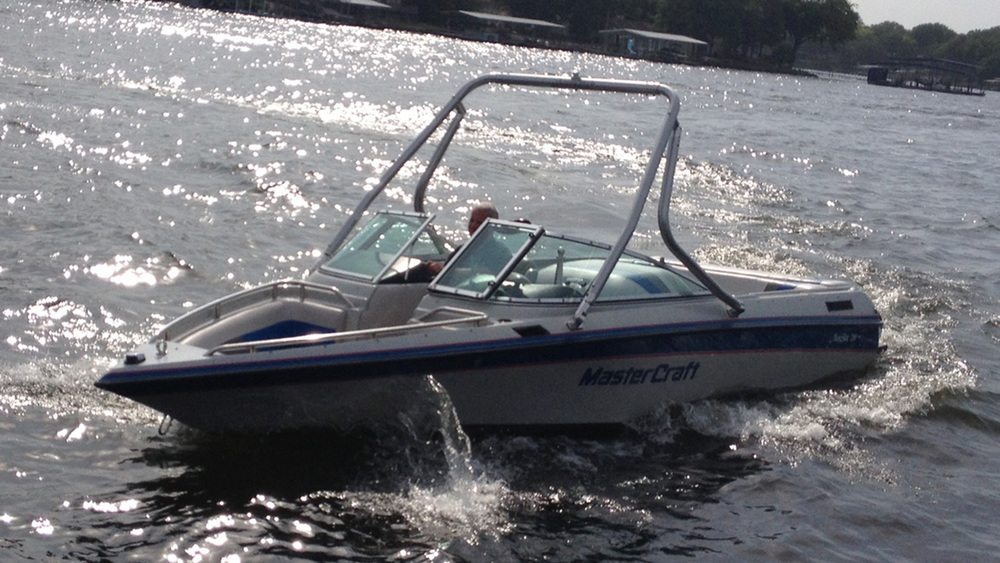 Wakeboard Tower on a 1991 Mastercraft maristar