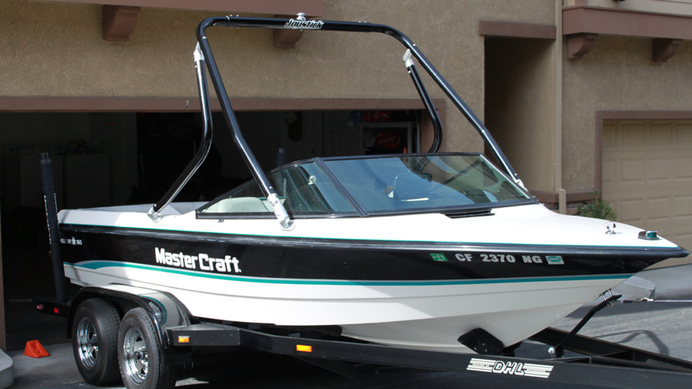 Wakeboard Tower on a 1993 Mastercraft prostar 190
