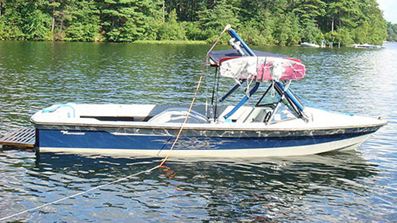 Wakeboard Tower on a 1988 ski nautique
