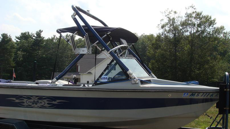 Wakeboard Tower on a 1989 Ski Nautique