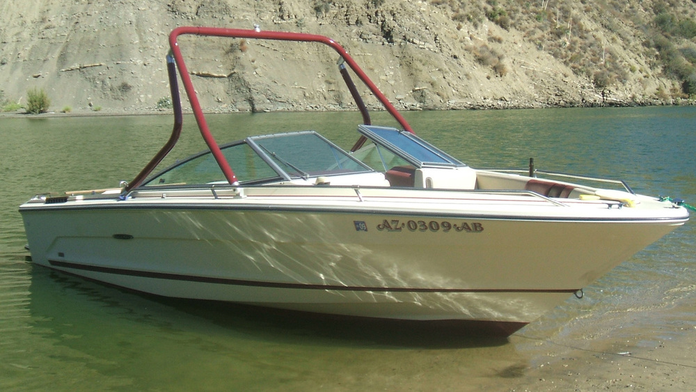 Wakeboard Tower on a 1985 Sea Ray SRV