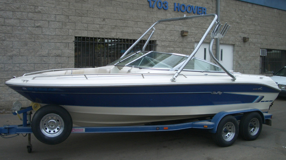 Wakeboard Tower on a 1995 Sea Ray Signature 200