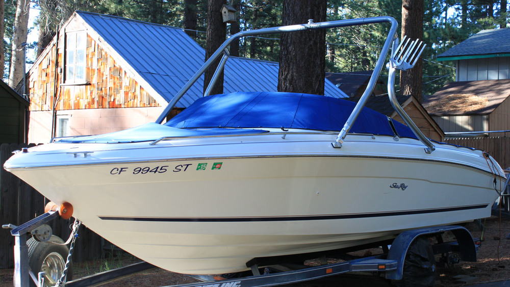 Wakeboard tower on a 1998 sea ray 210 signature