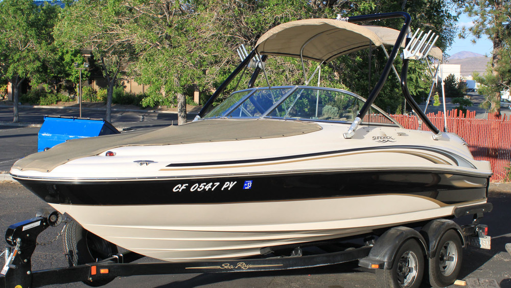 Wakeboard Tower on a 2002 Sea Ray 190 SD  Sundeck