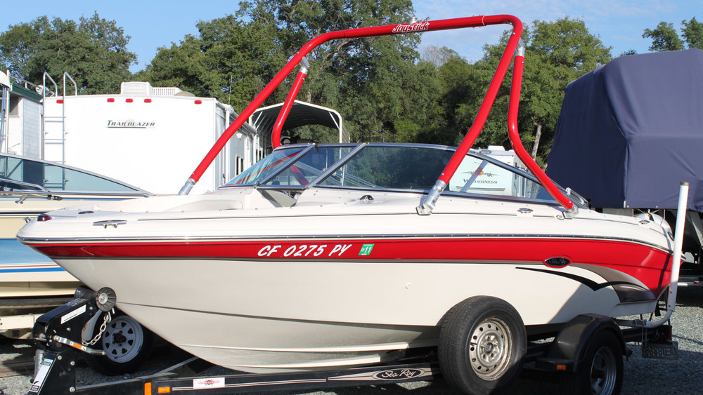 Wakeboard tower on a 2003 Sea Ray 185