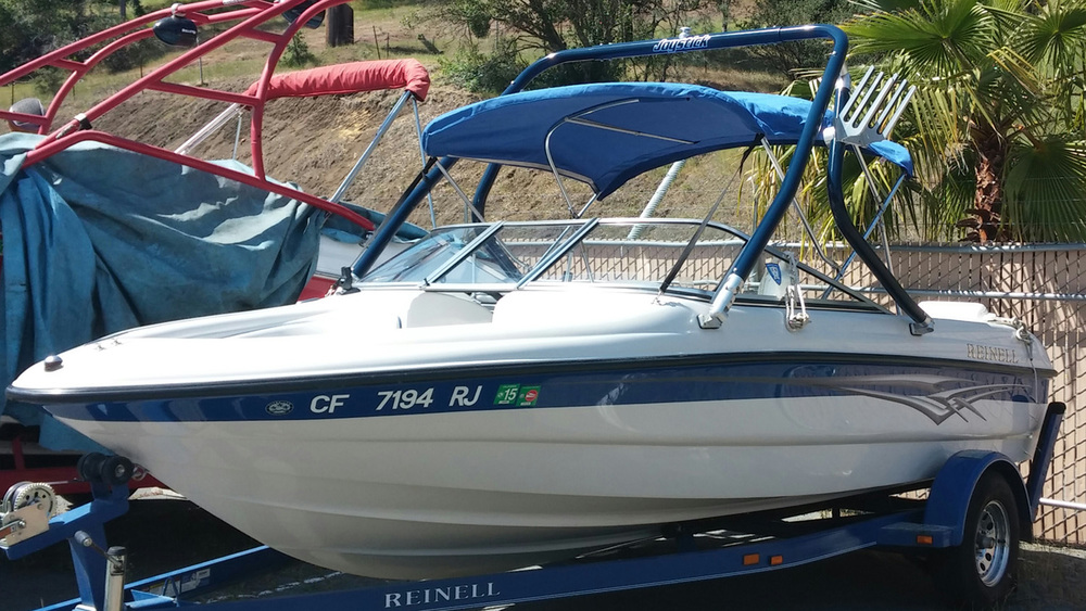 Wakeboard Tower on 2006 Reinell 185 ls