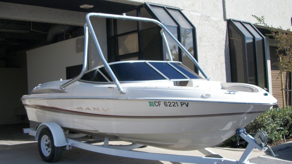 Wakeboard Tower on a 2002 Maxum 1800 sr
