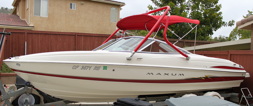 Wakeboard Tower on a 2004 Maxum 2200 SR