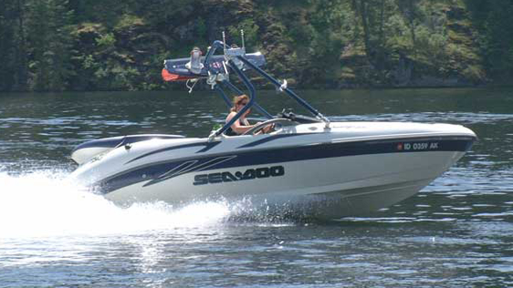 wakeboard tower on a 2001 sea-doo challenger 2000