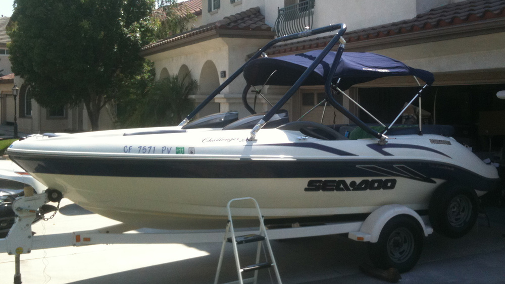 wakeboard tower on a 2001 sea-doo challenger