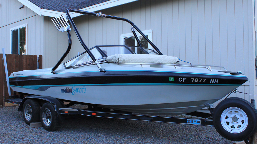 Wakeboard tower on a 1990 Malibu euro f3