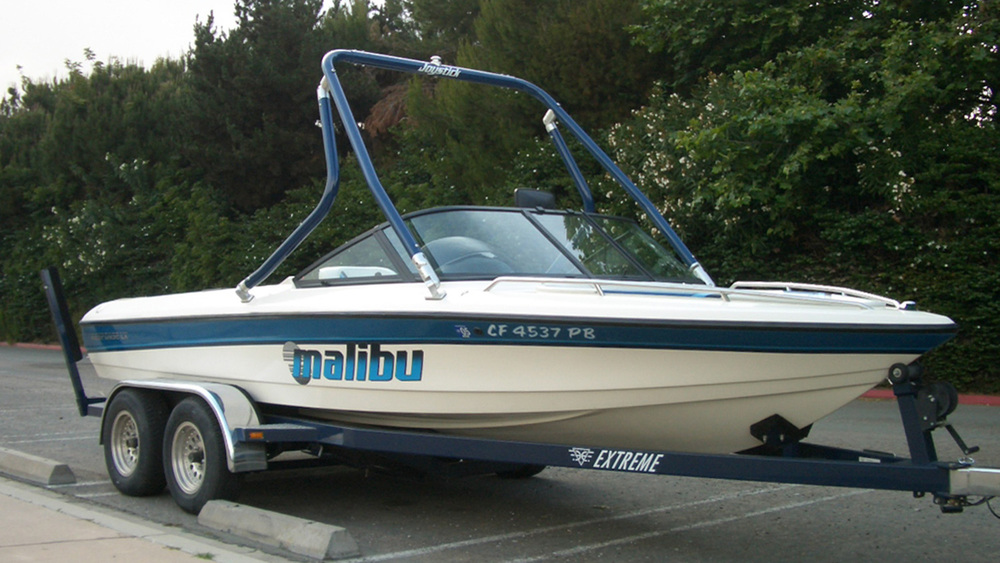 Wakeboard Tower on a 1998 Malibu Response