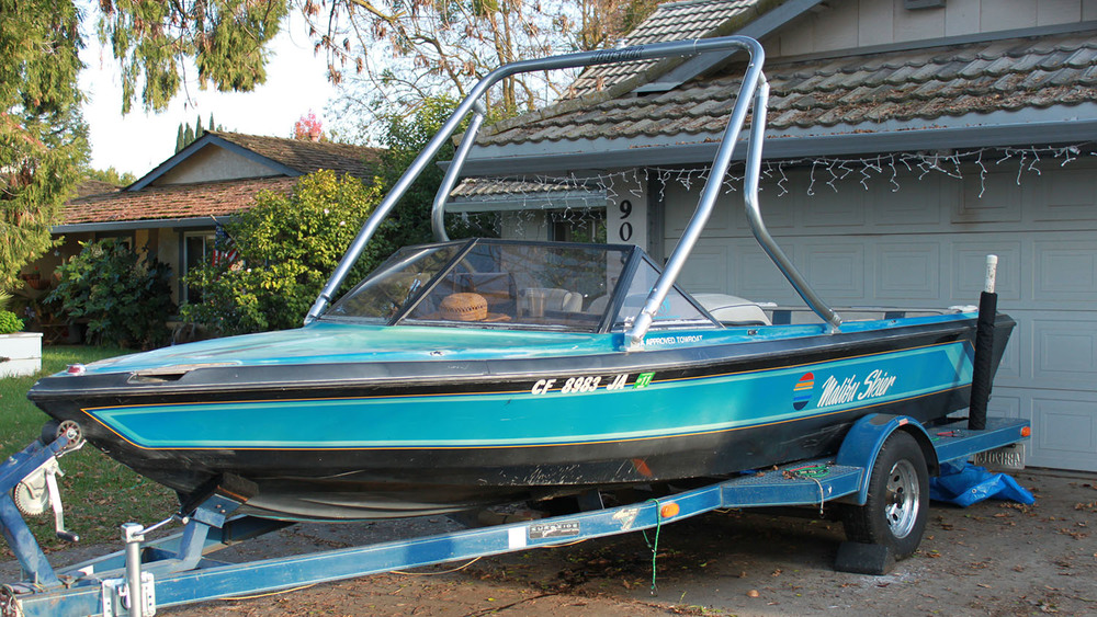 Wakeboard tower on a 1984 malibu skier
