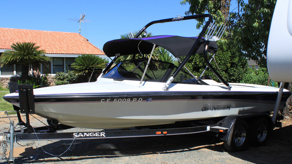 Wakeboard Tower on a 1992 Ski Sanger DXII