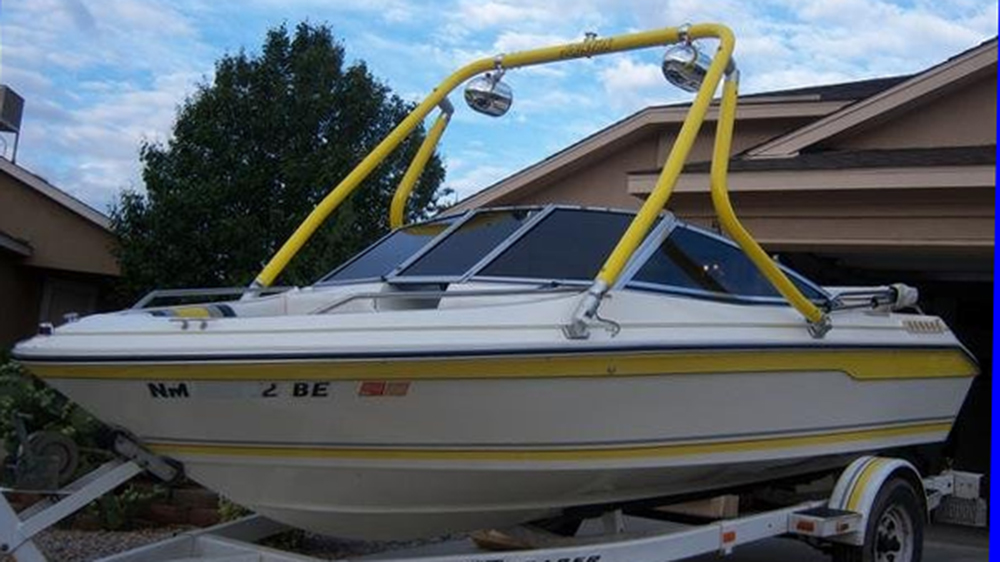 Wake Tower on 1989 Sea Ray 180