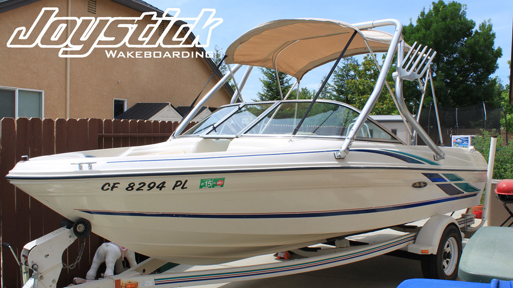 Wakeboard tower on a 1999 Sea Ray 180