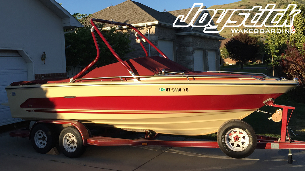 wakeboard tower on a 1986 sea ray monaco