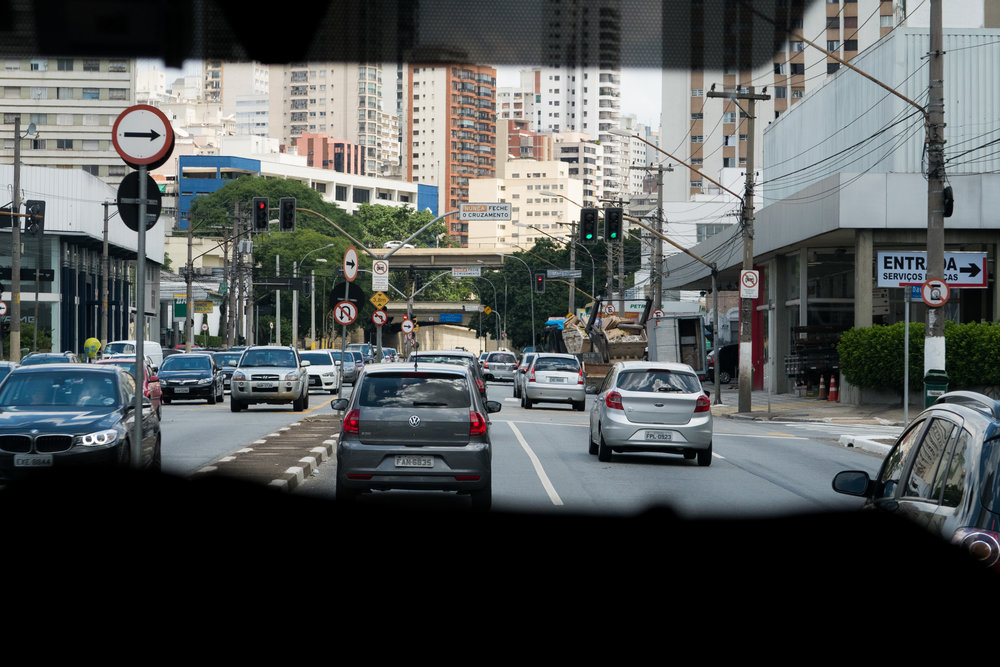 Street level in Sao Paulo