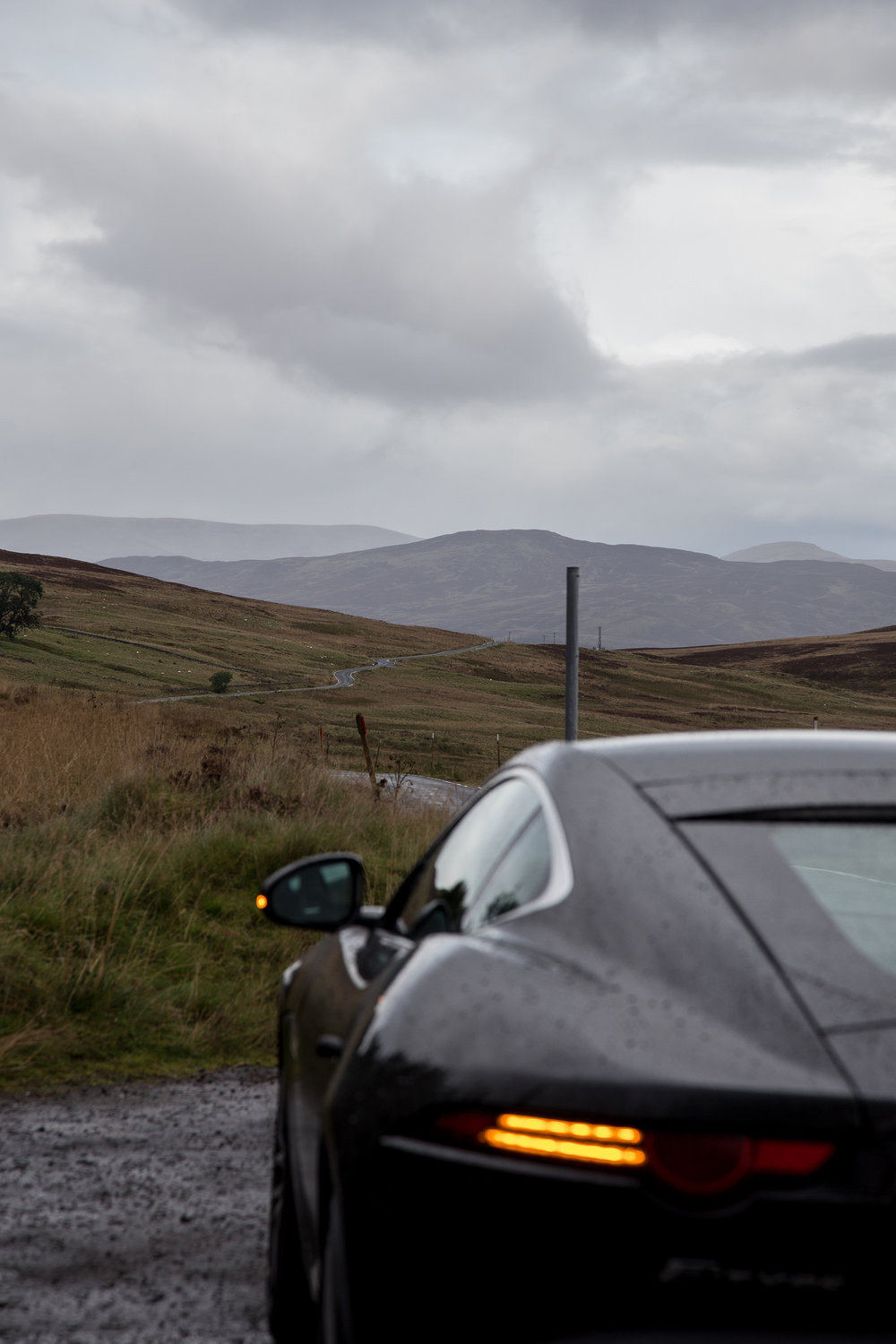 The undeniably sexy Jaguar F-Type. Equally as alluring was this road.