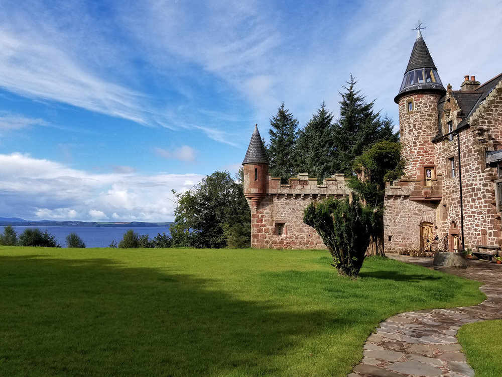 Our very own fairy tale castle, just outside of Largs. And yes, those turrets were fully functional.