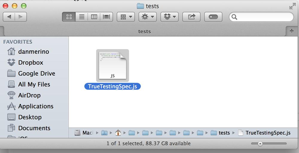 JS Test File