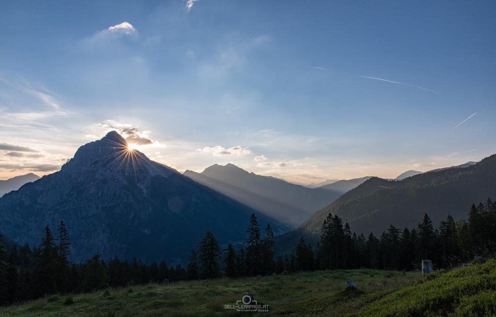 Sonnenaufgang über dem großen Ödstein