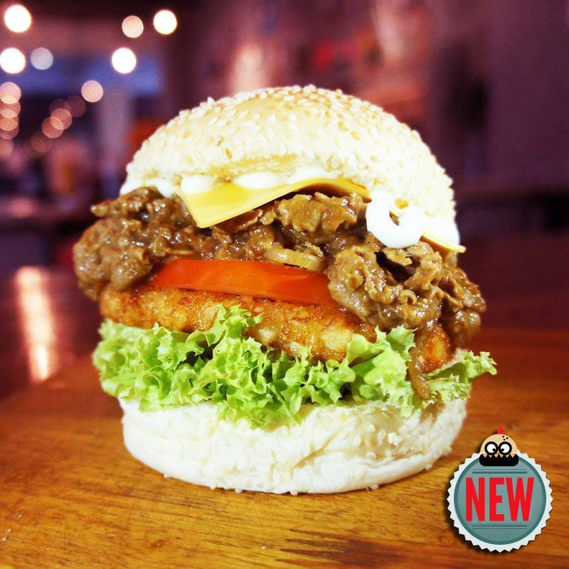 Japanese Curry Beef Burger
