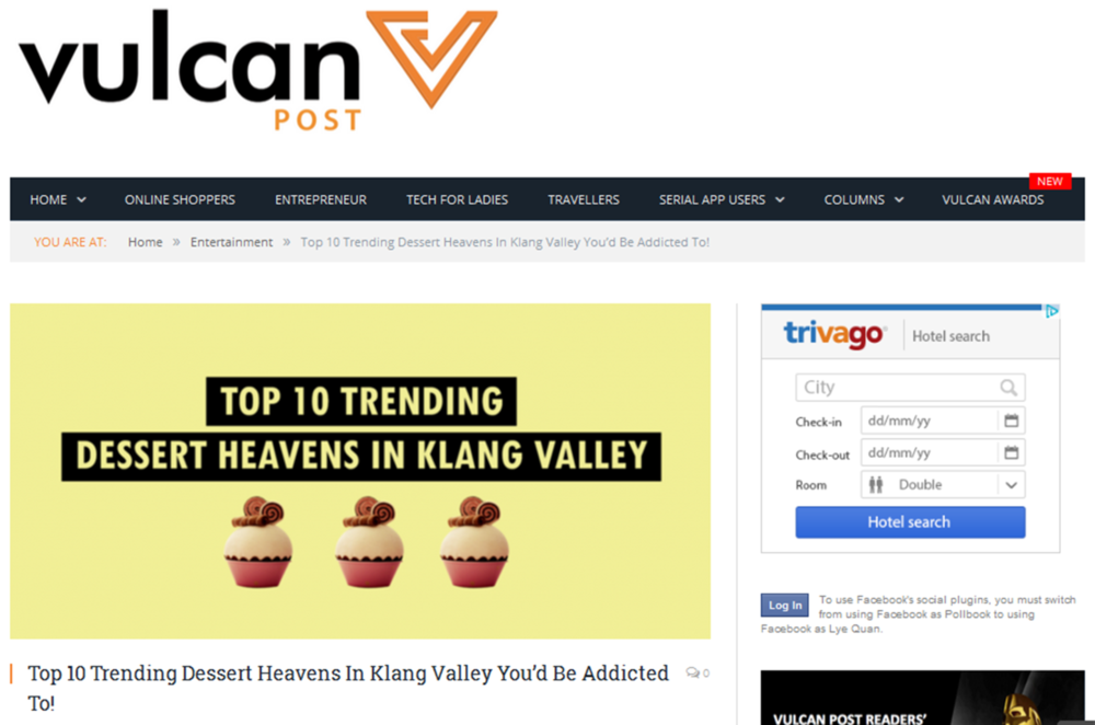 Weekly content partnership with Vulcan Post, a site which features latest lifestyle technology news