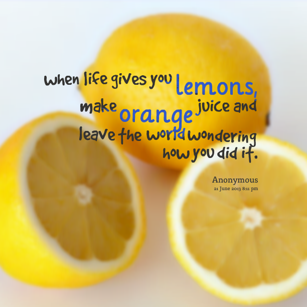 Make orange juice and leave the world wondering how you did it