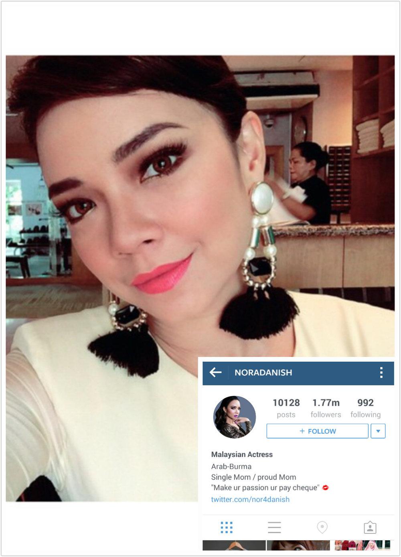 nora danish top 100 most popular malaysians on instagram