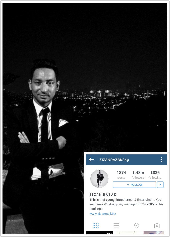 zizan razak top 100 most popular malaysians on instagram